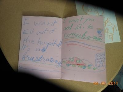 Faith's card, the funniest get well card ever :)