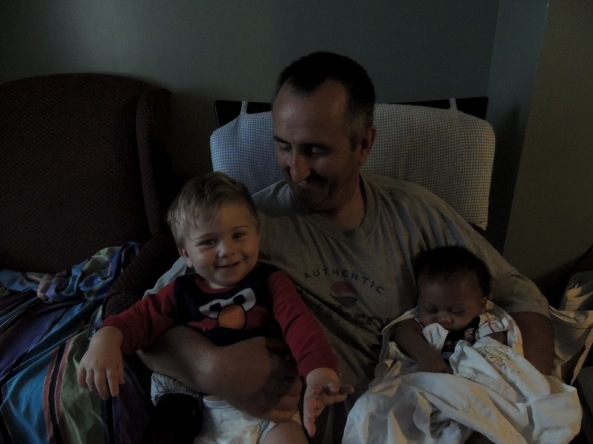 Daddy and Eli and Josiah